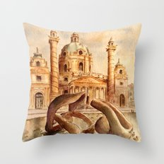 Karlskirche, Vienna, Austria Throw Pillow