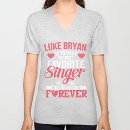 luke bryan shirt Unisex V-Neck