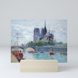 "Gustave Madelain ""The Seine and Notre Dame"" Mini Art Print"