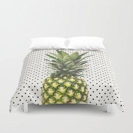 Polka Dot Pineapple Duvet Cover