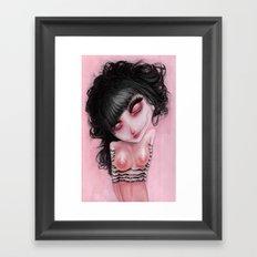 Pink Bleak Pain Framed Art Print