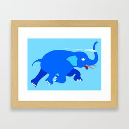 Loch Ness Elephant Theory Framed Art Print