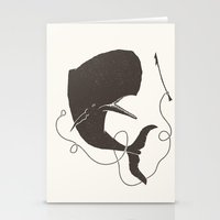 dick Stationery Cards featuring Moby Dick by Daniel Feldt