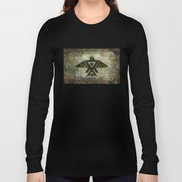 Thunderbird flag - Vintage grunge version Long Sleeve T-shirt