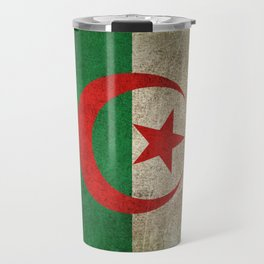 Old and Worn Distressed Vintage Flag of Algeria Travel Mug