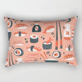Sushi Dreams – Coral Rectangular Pillow