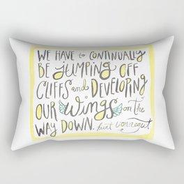 jumping off cliffs - kurt vonnegut quote Rectangular Pillow