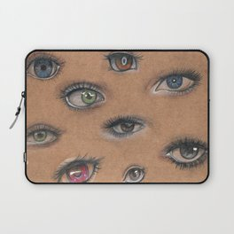 A Collage of Eyes Laptop Sleeve