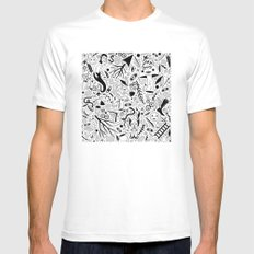 Curious Collection No. 9 White Mens Fitted Tee MEDIUM