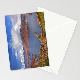 Lake Chuzenji, Japan in autumn from above Stationery Cards