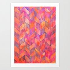 PATTERN {Chevron 012} Art Print