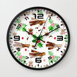 Christmas holly berries #2 Wall Clock