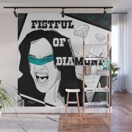 FISTFUL OF DIAMONDS Wall Mural