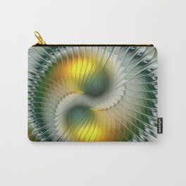 Like Yin and Yang, Abstract Fractal Art Carry-All Pouch