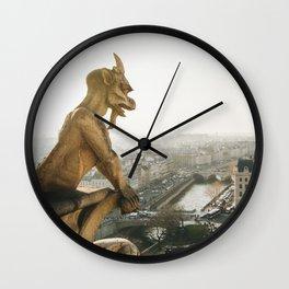 Gargoyle in Paris Wall Clock