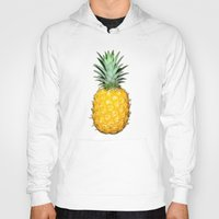 pineapples Hoodies featuring Big Pineapples by CumulusFactory