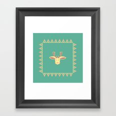 Happy Jackalope Framed Art Print