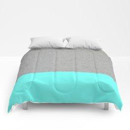 Concrete / turquoise Comforters