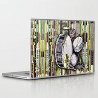 drum Laptop & iPad Skins featuring Drum Kit by JustinPotts
