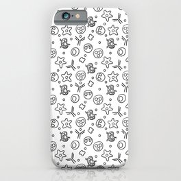 Immune Cells - Black and White iPhone Case