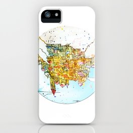 Upside-down Town. iPhone Case
