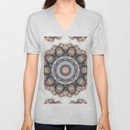 Abstract flowers mandala Unisex V-Neck