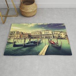Venise.  love, gondola venice, city, tourism, building, Rialto Bridge, venetian, modern, venezia, ro Rug