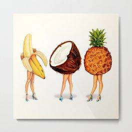 Tropical Fruit Pin-Ups Metal Print