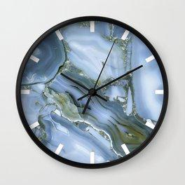 Blue Wealth Wall Clock