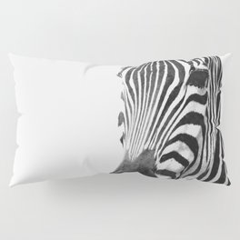 Black and white zebra illustration Pillow Sham