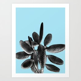 Black Light Blue Cactus #1 #plant #decor #art #society6 Art Print