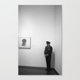 The Museum Guard Canvas Print