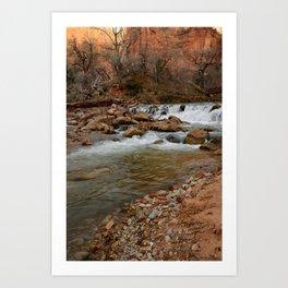 Virgin_River Falls 0898 - Zion Court Art Print