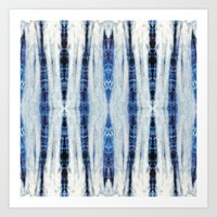 nori Art Prints featuring Nori Blue by Nina May Designs