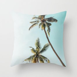 Palm Tree Beach Summer Throw Pillow