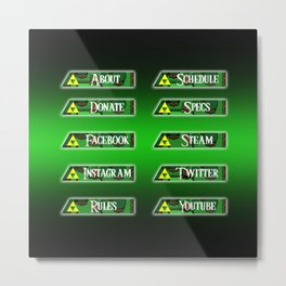 Triforce Profile Set Metal Print