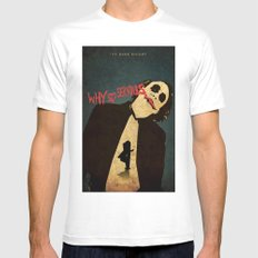 Joker MEDIUM White Mens Fitted Tee