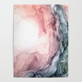Blush and Blue Dream 1: Original painting Poster