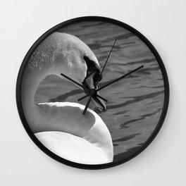 Sunning Swan by Teresa Thompson Wall Clock