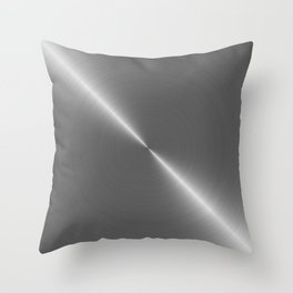 Bright Polished Titanium Metal Throw Pillow