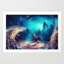 Dancing Zodiac Pisces Art Print