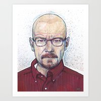 walter white Art Prints featuring WALTER by Jef2D