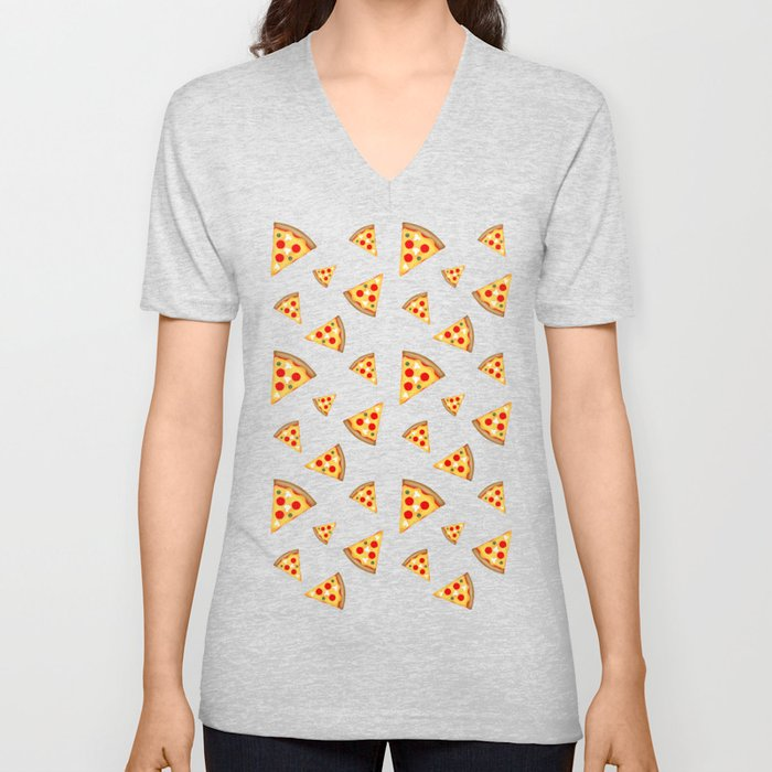 Cool and fun pizza slices pattern Unisex V-Ausschnitt