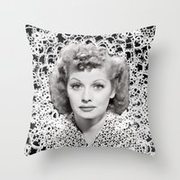 lucy Throw Pillows featuring lucy by RULES OF REFRACTION