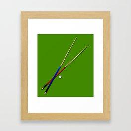 Snooker Cues Framed Art Print