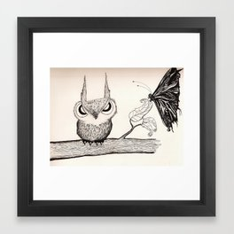 Owl with Attitude Framed Art Print