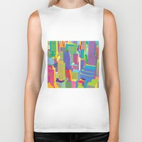 cityscape Biker Tanks featuring Cityscape windows by Glen Gould