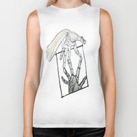 mirror Biker Tanks featuring Mirror by LewisLeathers