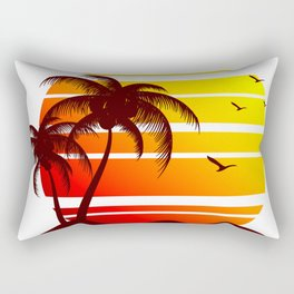 Sunset at the Beach Rectangular Pillow