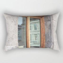 Old Montreal Wood Window Rectangular Pillow